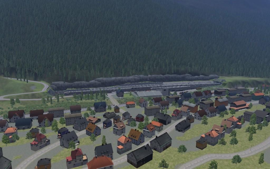 La gare de St-Anton-am-Arlberg, entre deux tunnels.