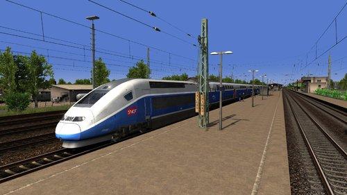 Screenshot for Scenario - Trajet TGV pour Mulhouse Ville et Paris Gare de Lyon (Map Basel Freiburg)