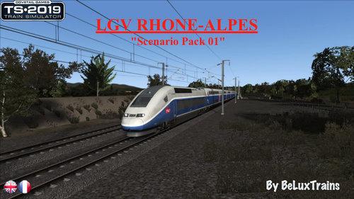 "Screenshot for Pack de scénarios 01 ""LGV Rhône-Alpes"""
