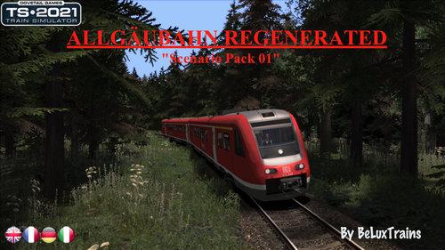 """Screenshot for Scenario Pack 01 """"Allgäubahn Regenerated"""""""